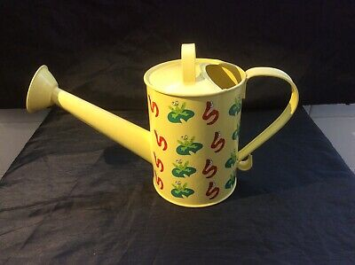 Yellow Frogs & Worms Watering Can
