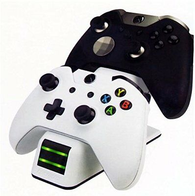 PDP Energizer 2x Charging Station Controller Charger Dock for Xbox One - White