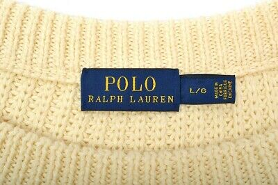 4741@ POLO RALPH LAUREN Cable Knit Thick Womens Jumper Flowy Sweater Sz L 12 VGC