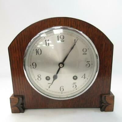 Vintage Garrard Clocks Ltd - Wooden Mantle Clock - Mechanical Movement with Key