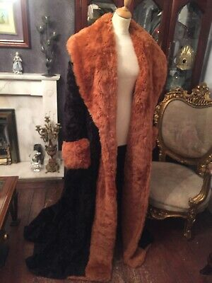 Black And Brown Long Faux Fur Coat Pantomime Wicked Step Mother Cinderella