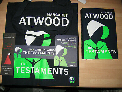 Margaret Atwood The Testaments Signed & Dated 1st/1st Booker Prize Winner promos