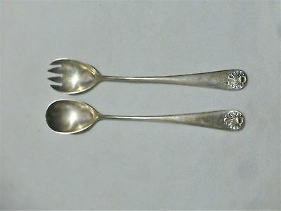 Lovely Vintage EPNS silver plated table cutlery spoon servers set