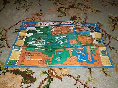 The Legend of Zelda : A Link to the Past Super Nintendo SNES Hyrule Map *Mint*