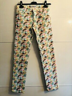 Girls trousers with fruit print. Age 12yrs
