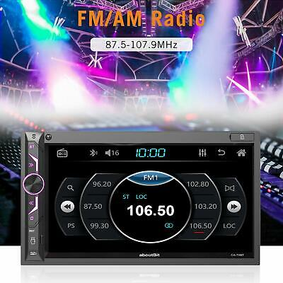 7 inch Double Din Digital Media Car Stereo Receiver aboutBit Bluetooth 5.0 Touch