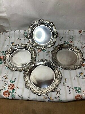 "Gorham Chantilly-Duchess Sterling Silver set of 4 Bread Plates, 6"" #738"