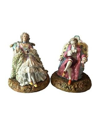Antique Dresden German Porcelain Pair of Figures