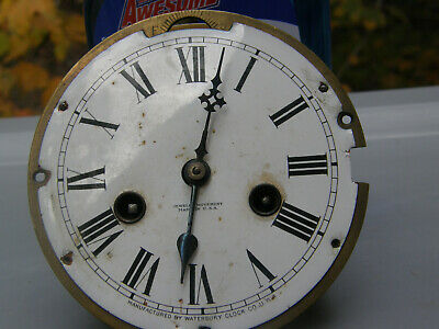 Antique Waterbury Clock Parts & Repair Only Movement Face hands 1898-1910
