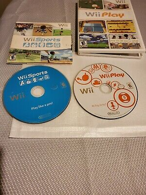 Wii Sports (Wii, 2006) rare wii game + wii play wii game lot low price
