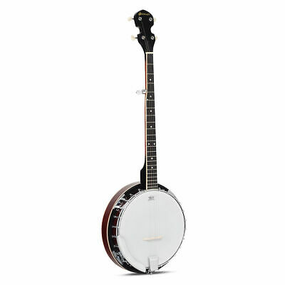 Sonart 5 String Geared Tunable Banjo Beginners 24 Brackets Closed Back Remo Head