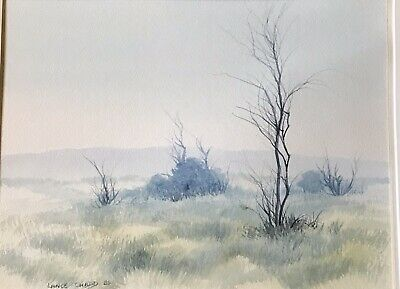 Lance Chadd (Tjyllyungo) Aboriginal listed Artist Watercolour Landscape Painting