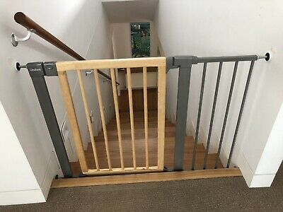 Lindam Sure Shut Deco Safety Gate Wood / Metal