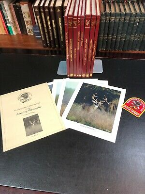 North American Hunting Club Book Lot - 8 Volumes Plus Collector Prints!