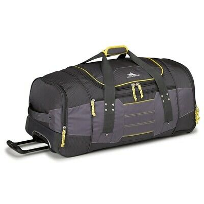 High Sierra 63609 Ultimate Access 76cm Wheeled Duffel + Backpack Straps Charcoal