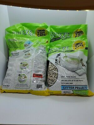 Purina Tidy Cats BREEZE Litter System Refills (4) 3.5 lb. Pouches lot of 14 lbs