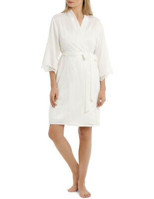 Brand New Chloe & Lola White Satin Robe Great for Weddings Bridal Hens