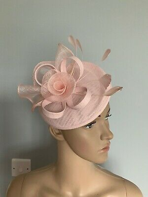 Pale Pink Fascinator Headband Clip Wedding Ladies Race Day hair accessories BNWT