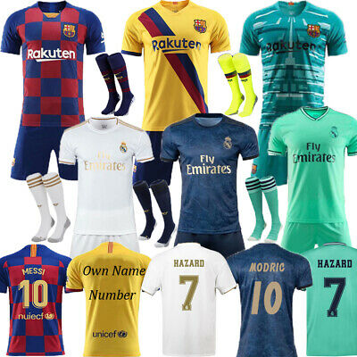 2019 Football MESSI Kits Soccer Short Sleeve Adult Jerseys And Kids 3-14 Outfits