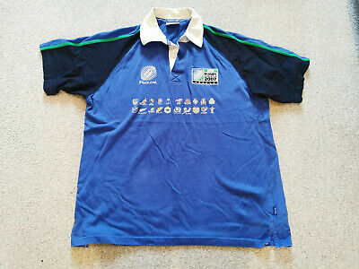 FRANCE RUGBY WORLD CUP POLO SHIRT XL - France 2007 Top - Blue