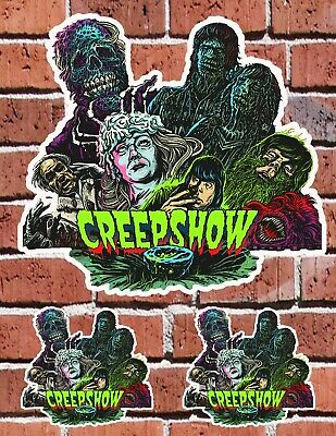 CREEPSHOW Stephen King 80s Horror SCHOOL AUTO SKATE HOME Decal Stickers
