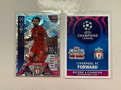 Match Attax Uefa Champions League 2018/19 Mohamed Salah 100 101 Club 438 New
