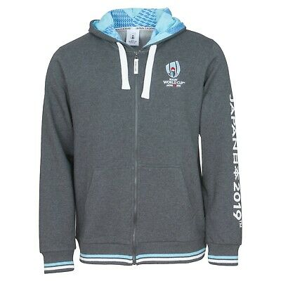 Japan 2019 Rugby World Cup Men's Full Zip Through Hoodie - Large - Grey - New