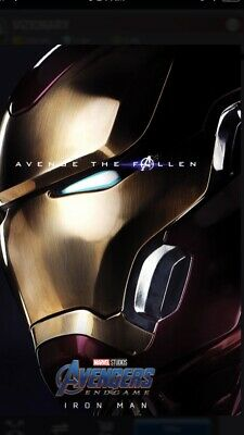 Topps Marvel Collect Iron Man Poster Award Avenge The Fallen Series 2