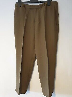 Green Wide Leg Crop Trousers From Marks And Spenser Size 12