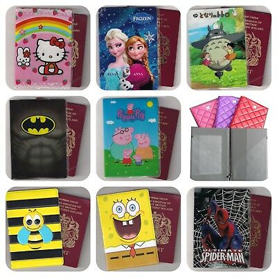 Passport Holder case cover travel gift Children Boys Girls kids TV Character