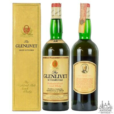 The Glenlivet Unblended All Malt Scotch Whisky 12 Years Old Anni '80 75 Cl 43°