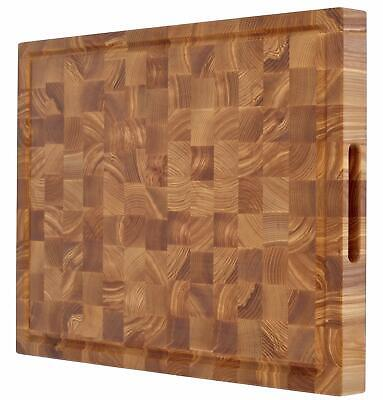 Professional butcher block cutting board 24 x 18 inch extra large thick woode...