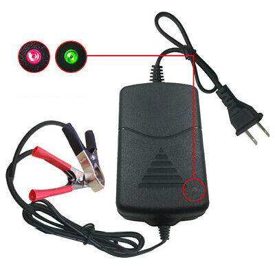 12V 1A Universal Portable Car Truck Motorcycle Alligators Clip Battery Charger A
