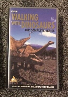 Walking With Dinosaurs - BBC 2x PAL VHS Video - The complete series 1999
