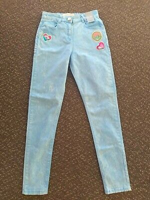 Girls *NEW* Skinny Faded Slogan Jeans Age 12 from Matalan with adjustable waist