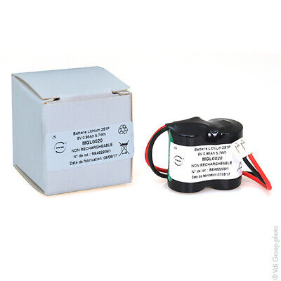 Batteria Litio 2X 1/2AA CR 2S1P ST1 6V 950MAh JST