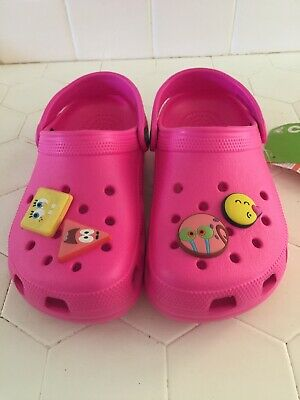 W5 New With Tag Crocs Classic Kids Hot Pink Shoes M3