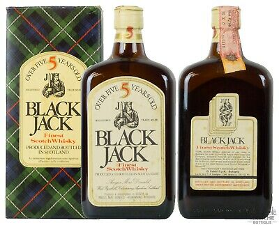 Black Jack Finest Scotch Whisky 5 Years Old Anni '80 75 Cl 40°