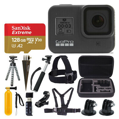 GoPro HERO8 Black Action Camera + SanDisk Extreme 128GB Memory Card & More!