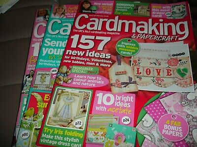Cardmaking & Papercraft  Magazines Issues 101, 102 & 103