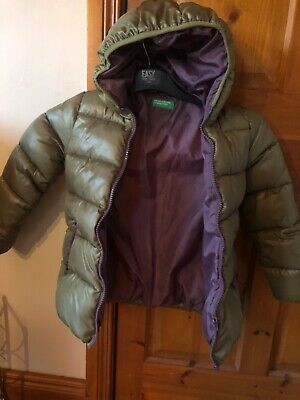 Girls United Colors Of Benetton Warm Winter Coat Age 6-7