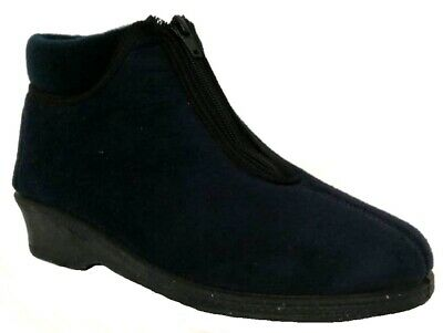 ANNALISA pantofole,stivaletti inverno donna ART. 350 blu MADE IN ITALY slippers
