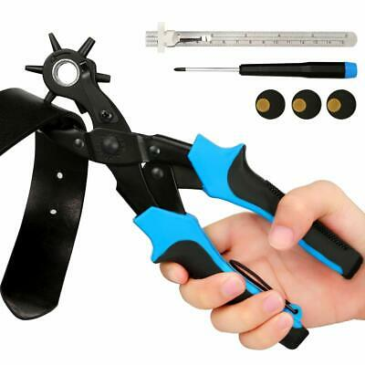 Lifegoo Leather Hole Punch Tool for Belts Revolving Puncher Plier Kit Includi...
