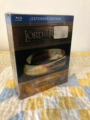 The Lord of the Rings: The Motion Picture Trilogy (Extended Edition Blu-ray) NEW