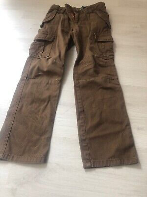 Mini boden Boys Comfy Brown Cargo Trousers Age 5 Jeans