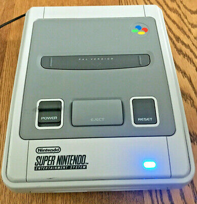 REGION FREE Super Nintendo SNES console, SuperCIC, PAL/NTSC-50/60hz-Switchless