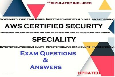AWS Certified Security Specialty Amazon SCS-C01 exam questions  and simulator