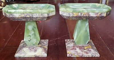 Pair of Late 19th Century French Marble and Onyx Tazzas