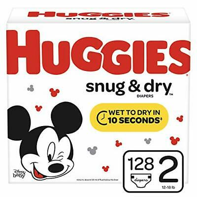 Huggies Snug & Dry 128 Count Size 2 Baby Diapers