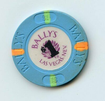 1.00 Chip from the Ballys Casino Las Vegas Nevada O/G inserts